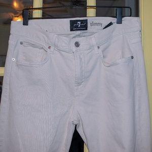 "7 FAM ""slimmy"" white jeans"